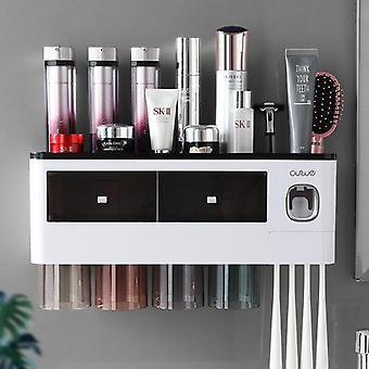 Toothbrush Holder With Cups Automatic Toothpaste Squeezer