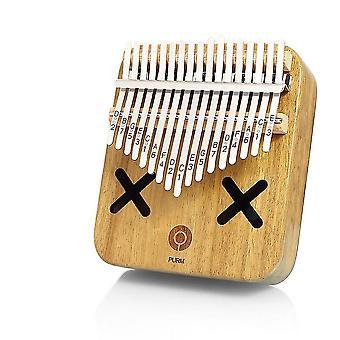 17 teclas Kalimba Thumb Piano Cute Cartoon Acacia Musical Instrument for Beginners
