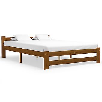 vidaXL السرير الإطار العسل البني الخشب الصلب الصنوبر 160x200 سم
