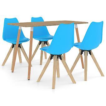 vidaXL 5-tlg. Groupe bleu