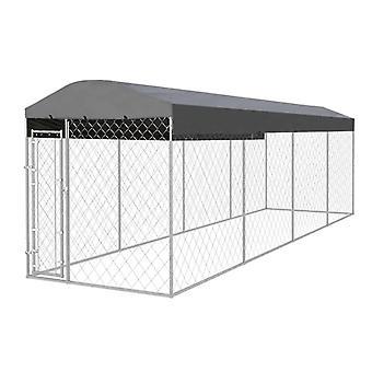 vidaXL Outdoor-Hundezwinger mit Überdachung 8x2x2,4 m