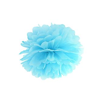 LAST FEW - 25cm Sky Blue Tissue Paper Pom Pom Party Decoration