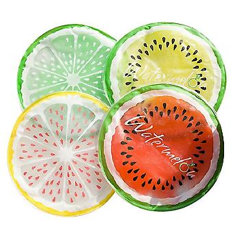Transparent Fruit Cooling Pad, Round Gel Ice Pad, Multifunctional Cooling Pad(White)