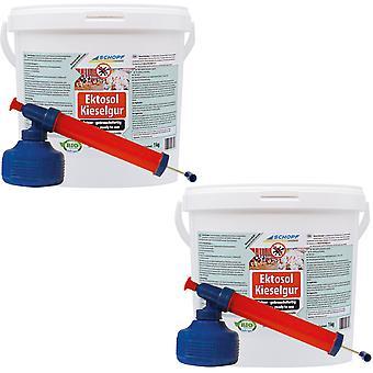 Sparset: 2 x SCHOPF Hygiene® Ectosol® Diatomaceous Earth, 1 kg + jauhe-atomointiaine