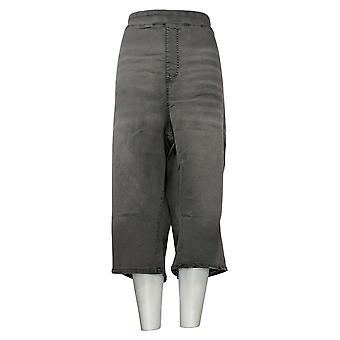 DG2 By Diane Gilman Women's Plus Jeans Pull-On Pedal Pusher Gray 741935
