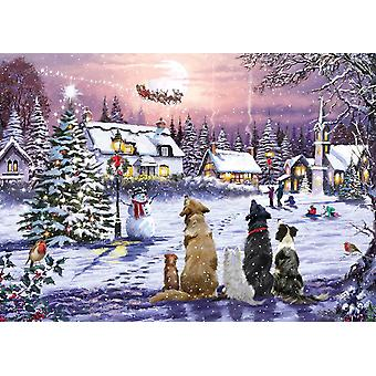 Otter House Christmas Eve Jigsaw Puzzle (1000 Pieces)