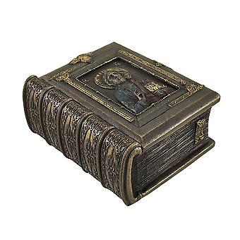 Kristus Pantocrator Bysantin tyyli kirjan muotoinen Trinket Box
