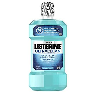 Listerine Ultraclean Antiseptic Mouthwash, Arctic Mint Flavor, 500 mL