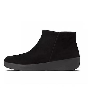 FitFlop Sumi Suede Ankle Boot In Black Suede