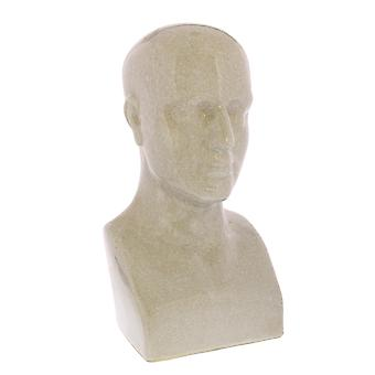 Off White Ceramic Bust Sculpture