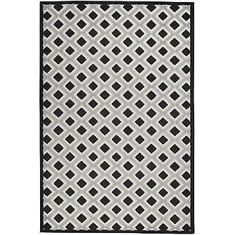 5 'x 8' Schwarz Weiß Grau Indoor Outdoor Area Teppich