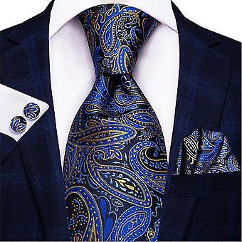 Cravatta italiana hi-tie 100% set cravatta da uomo in seta, 8,5 cm (C-1447)
