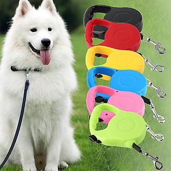 ניילון & פלסטיק 3m/5m ארוך נשלף כלב לחיות מחמד להוביל לאימון רצועה להרחבה