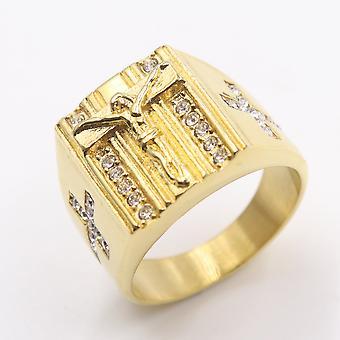 Luxury Jewelry Retro Punk Jesus Cross Ring