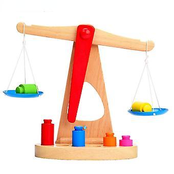 木製の子供の教育玩具、家庭用学用品、バランススケール、ゲーム、ベビー木製感覚学習玩具