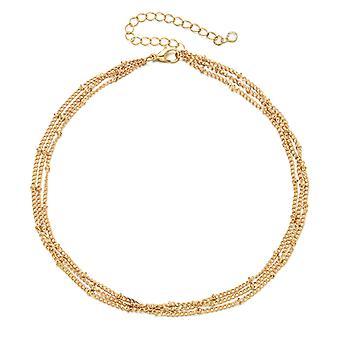 Złoty łańcuszek Choker Naszyjnik Dainty Chain Długi naszyjnik