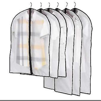 Abra la bolsa de polvo transparente en el lateral