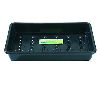 Standard Seed Tray Black With Holes Planting Gardening