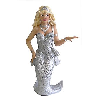 December Diamonds Zirconia Mermaid Silver Resin Holiday Christmas Ornament