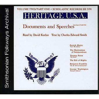 Heritage Usa Part 1: Documents & Speeches - Vol. 2-Heritage Usa Part 1: Documents & Speeches [CD] USA import