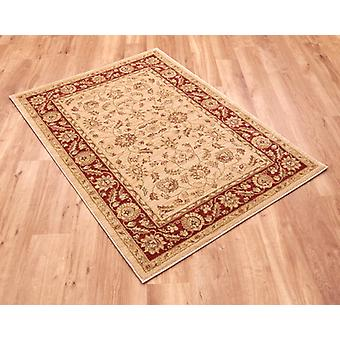 Ziegler 7709-Cream-Red Light beige ground with red border Circle Rugs Traditional Rugs