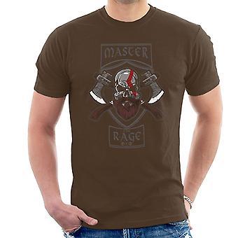 Master The Rage Kratos God Of War Men's T-Shirt