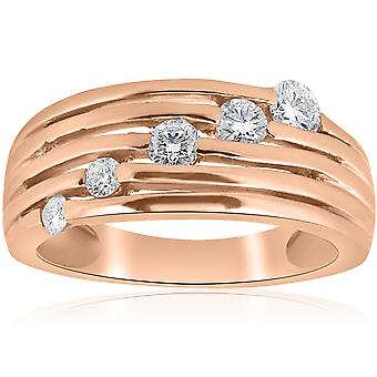 14K Rose Gold 1 / 2ct diament prawej podróż Ring