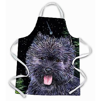 Carolines Treasures  SS8494APRON Starry Night Cairn Terrier Apron