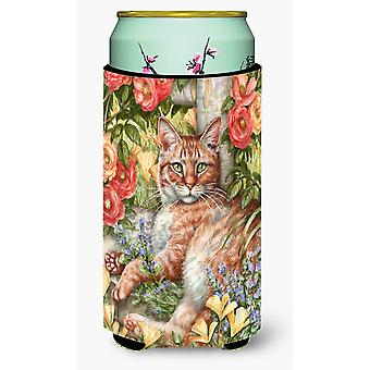 Tabby In The Roses by Debbie Cook Tall Boy Beverage Insulator Hugger