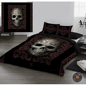 Wild star - oriental skull - duvet/pillow covers set uk double / us twin bed