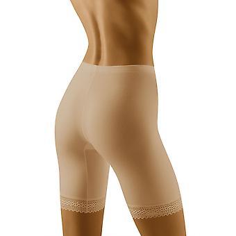 Wolbar Women's Rona Beige Light Control Slimming Shaping High Waist Long Leg Brief