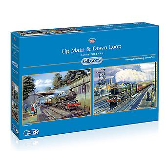 Gibsons Up Main & Down Loop Jigsaw Puzzle ( 2 x 500 pieces)