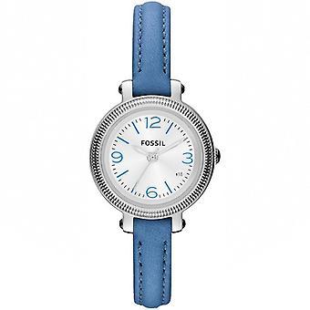 En cuir bleu Heather Watch ES3304 fossile de dames