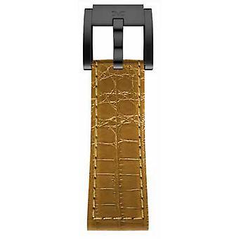TW Steel Marc Coblen Armband Uhrenband Leder 22 MM Kroko Braun LB_BR_K_B