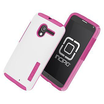 Incipio Technologies DualPro Shine Case for Motorola Moto X (White/Pink)