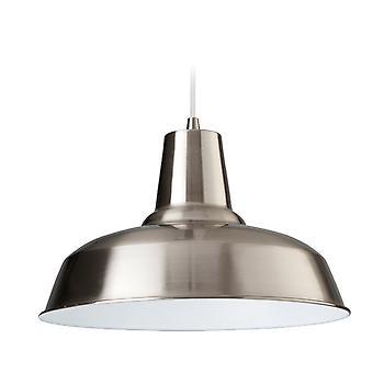 Firstlight Smart hanger afgewerkt In geborsteld staal met wit binnen