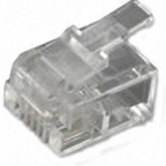 Enchufe modular RJ11, recta número de pernos: 6P4C MHRJ126P4CR transparente MH conectores 6510-0104-03 1 PC
