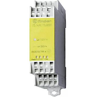 Finder 7S.14.9.024.0220-1 - 6A Relemoduuli, jossa on tuntuvia ohjattuja koskettimista DPDT-NO, DPDT-NC 250V AC IP20