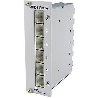 Telegärtner J02021A0054 6 portit Verkon korjaustiedostopaneeli CAT 6A 3 HE