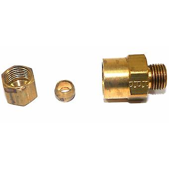 "Big A Service Line 3-166440 Brass Pipe, Reduction Male Adapter Fitting 1/4""x1/4"""