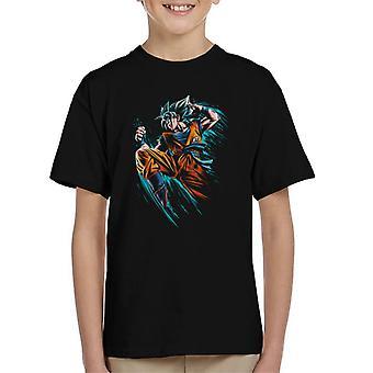 Dragon Ball Goku kék támadás gyerek ' s póló