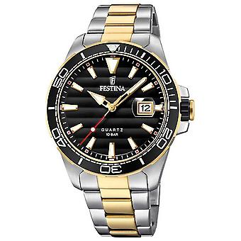 Festina Mens Two-tone Stainless Steel Black Dial F20362/2 Watch