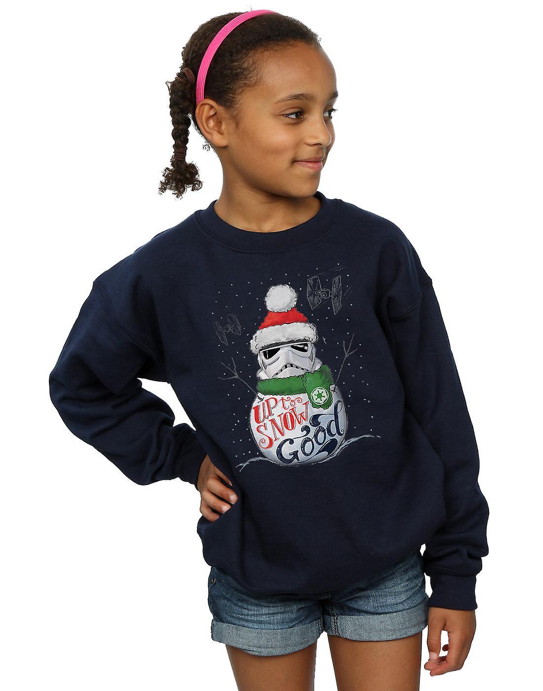Star Wars Girls Stormtrooper Up To Snow Good Sweatshirt