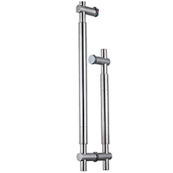 45cm Long Shower Door Handle Designer - Stainless Steel Arm - 150mm (15cm) Hole to Hole