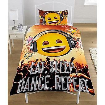 Emoji Eat Sleep Dance duvet set Bed set reversible 135 x 200 cm