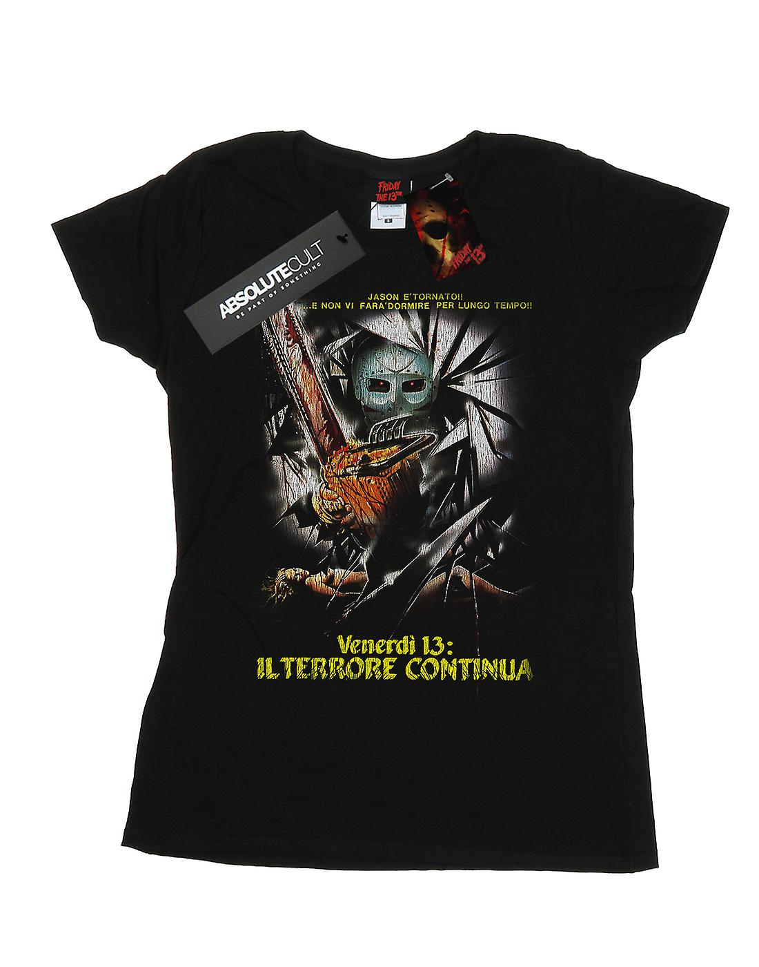 Friday The 13th Women's Italian Movie Poster T-Shirt