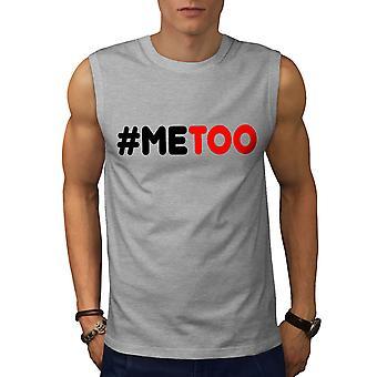 Equality Human Rights Men GreySleeveless T-shirt | Wellcoda