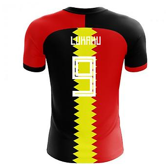 2020-2021 Belgium Flag Concept Football Shirt (Lukaku 9)