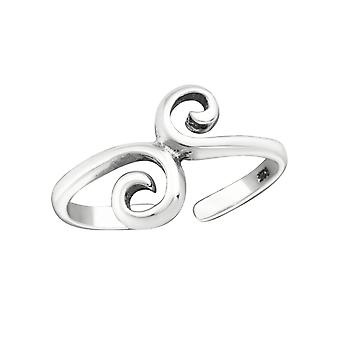 Whirls - 925 Sterling Silver Toe Rings - W15851x