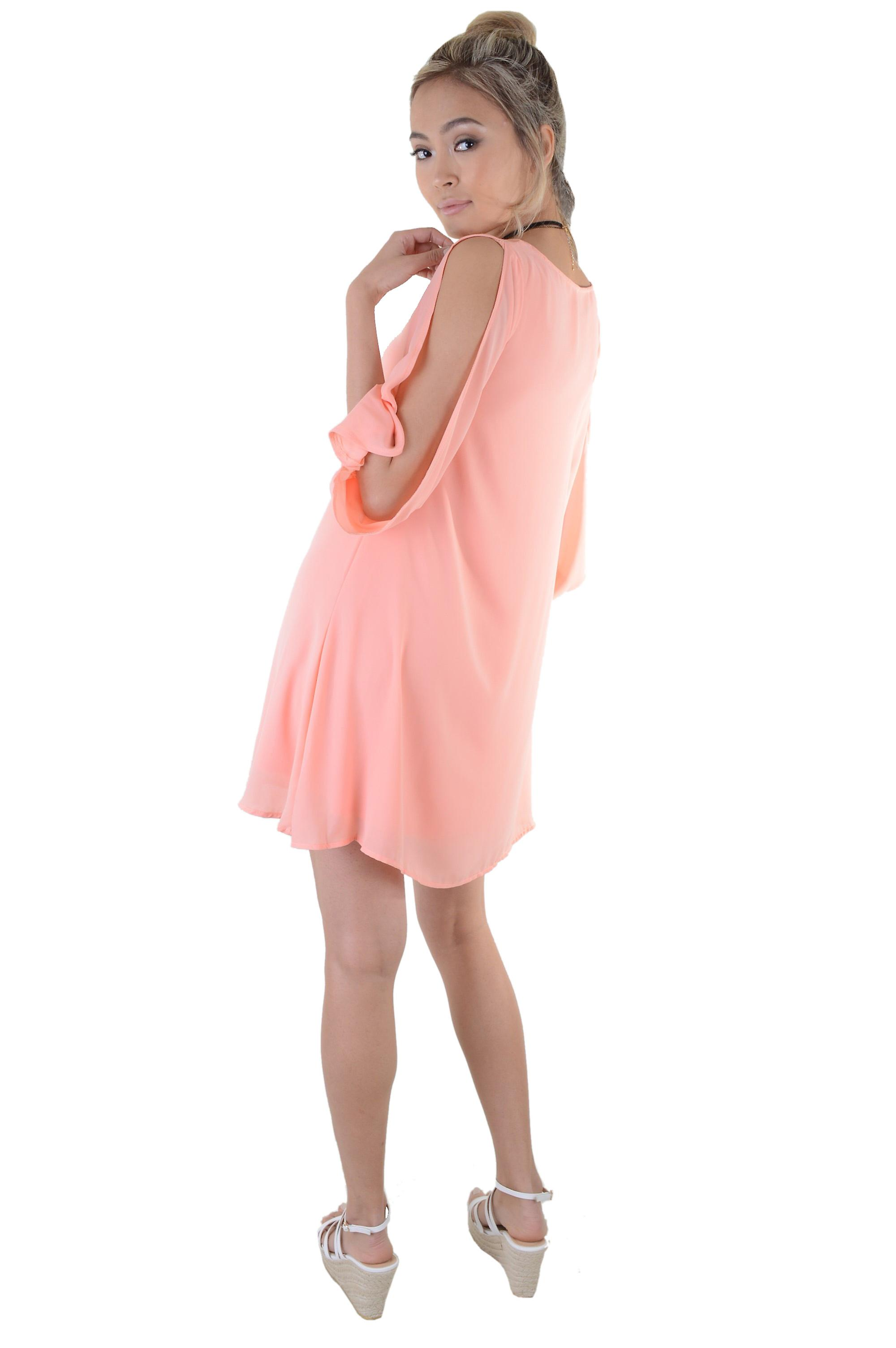 Lovemystyle Oversized Balloon Sleeve Bright Pink Dress - SAMPLE